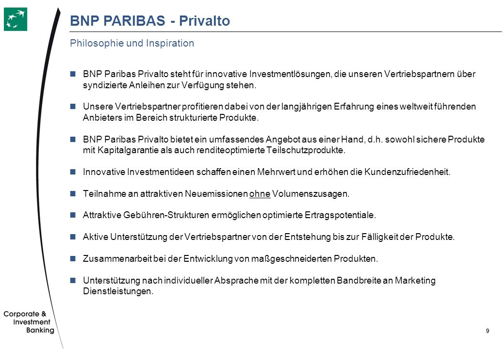 BNP PARIBAS - Privalto Philosophie und Inspiration