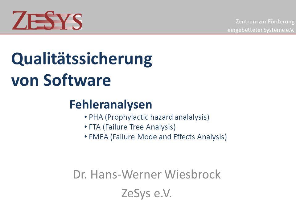Dr. Hans-Werner Wiesbrock ZeSys e.V.