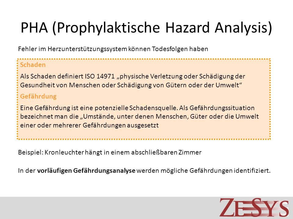 PHA (Prophylaktische Hazard Analysis)