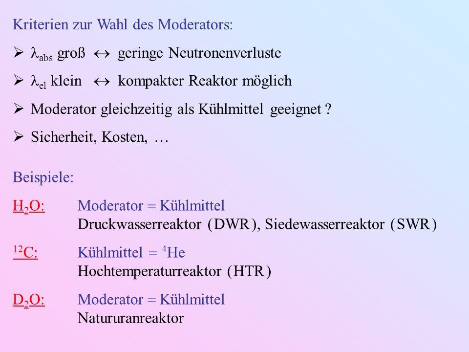 Kriterien zur Wahl des Moderators: