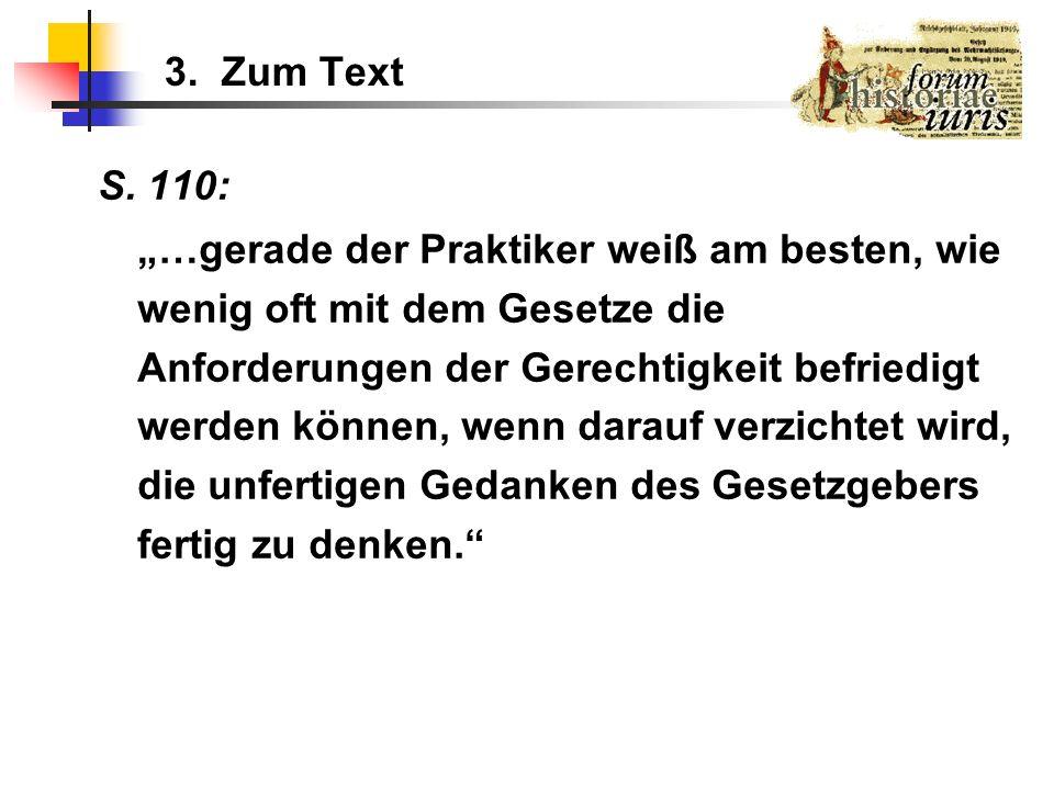 3. Zum Text S. 110: