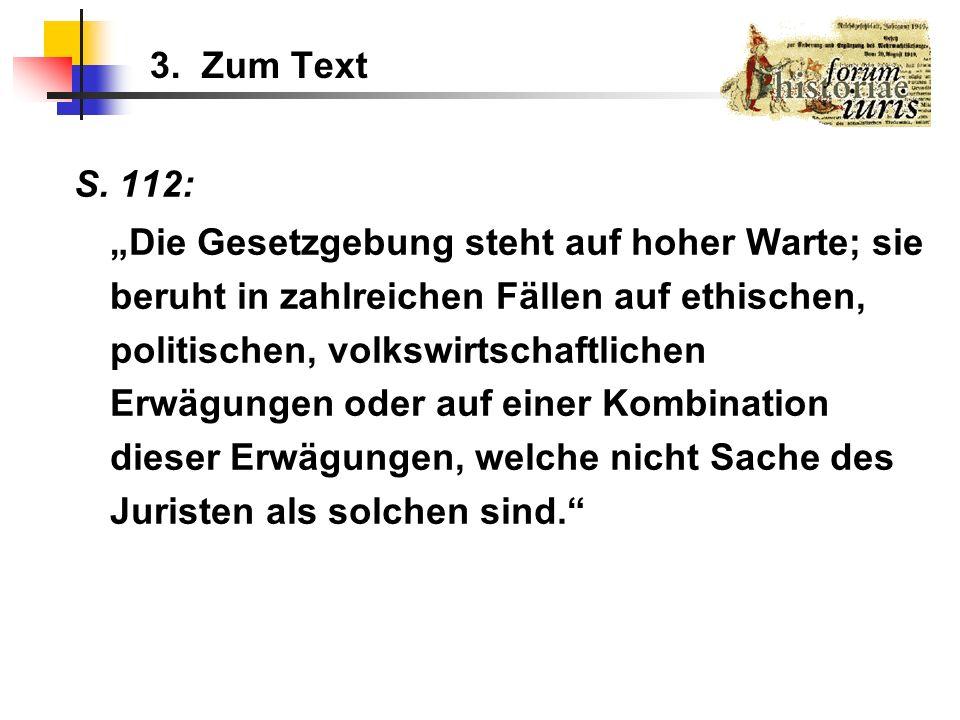 3. Zum Text S. 112: