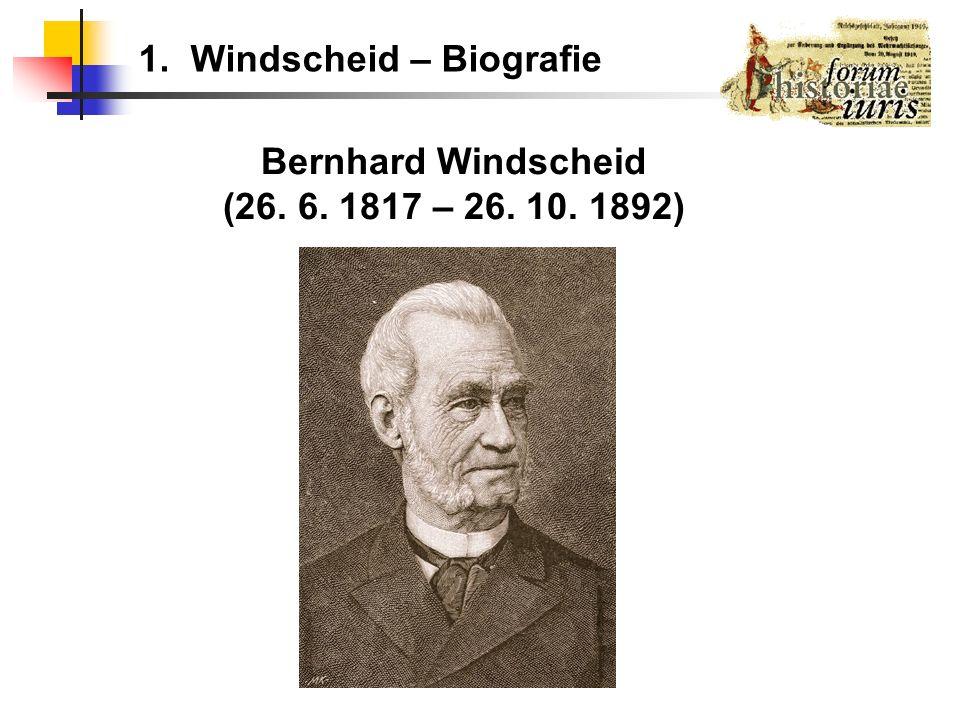Bernhard Windscheid (26. 6. 1817 – 26. 10. 1892)