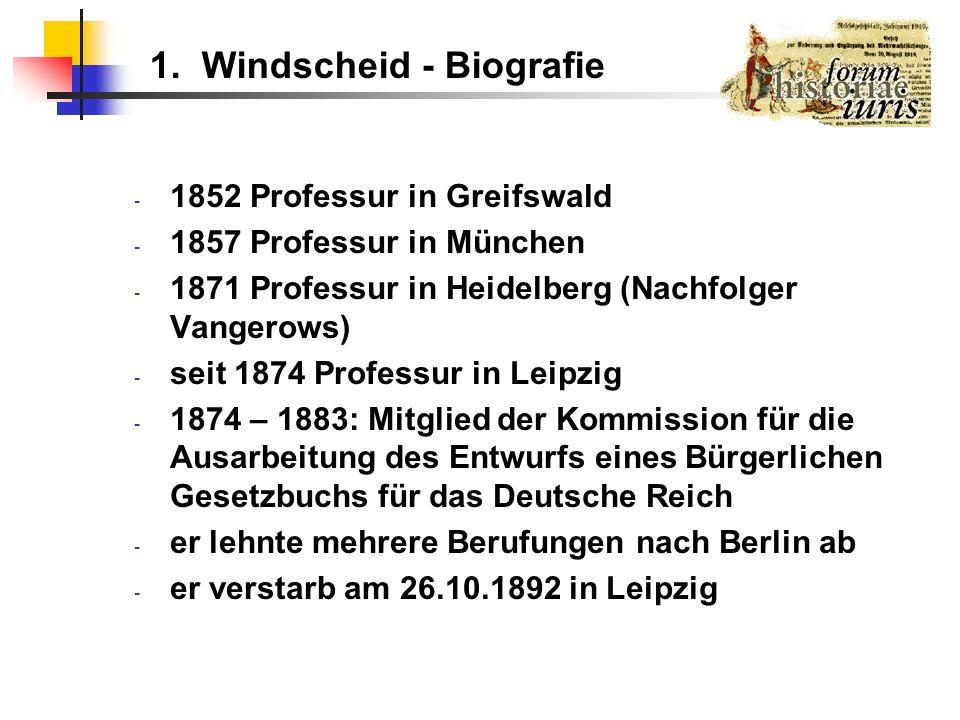 1. Windscheid - Biografie