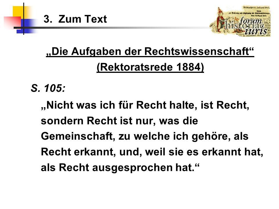 """""""Die Aufgaben der Rechtswissenschaft"""