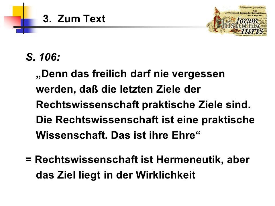 3. Zum Text S. 106: