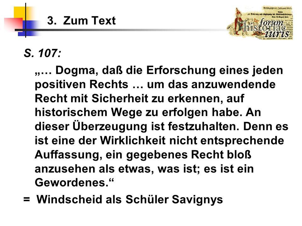 3. Zum Text S. 107: