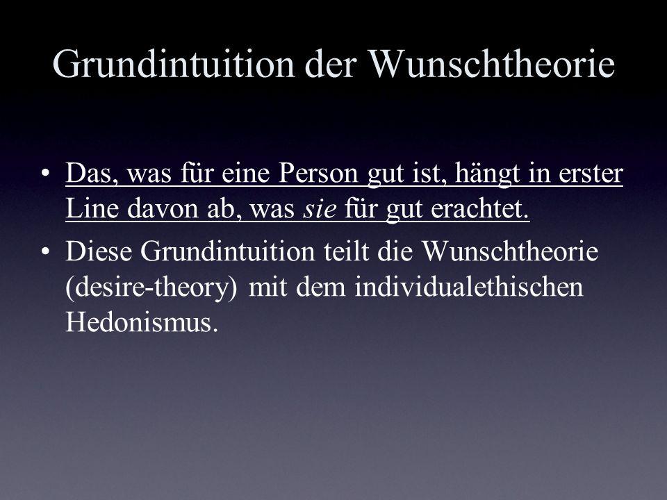 Grundintuition der Wunschtheorie