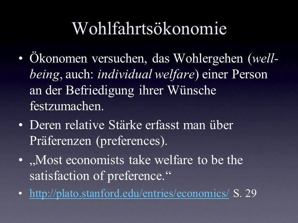 Wohlfahrtsökonomie