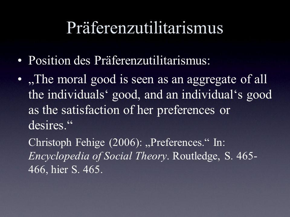 Präferenzutilitarismus