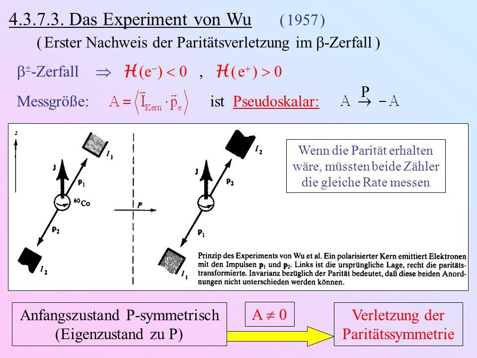 4.3.7.3. Das Experiment von Wu ( 1957 )