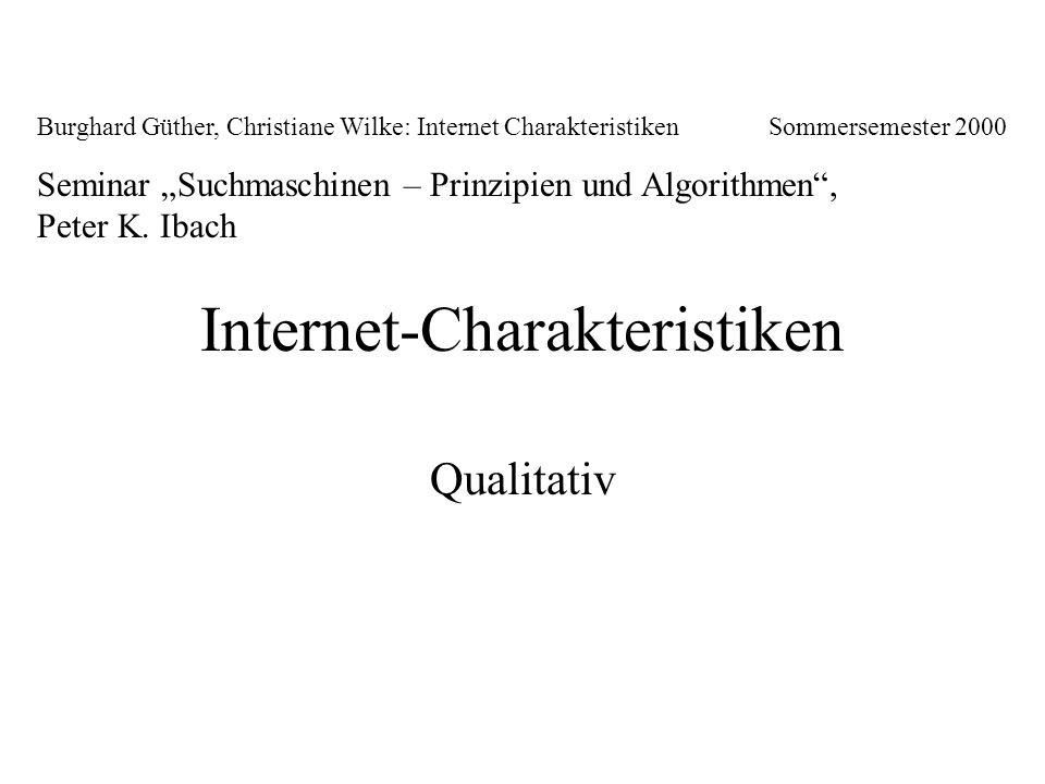 Internet-Charakteristiken