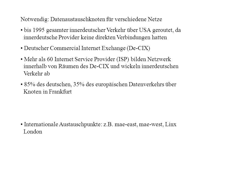 Notwendig: Datenaustauschknoten für verschiedene Netze