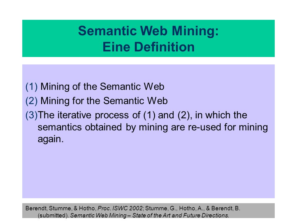 Semantic Web Mining: Eine Definition