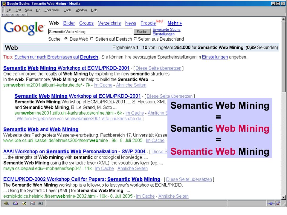 Semantic Web Mining =