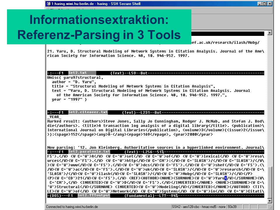 Informationsextraktion: Referenz-Parsing in 3 Tools