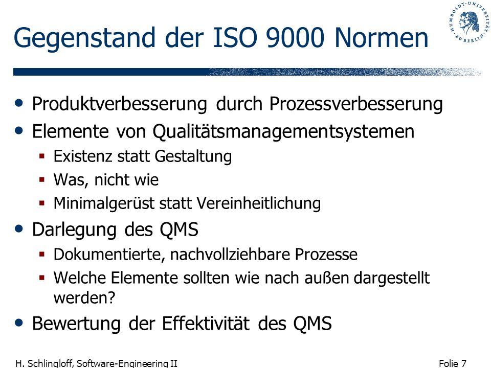 Gegenstand der ISO 9000 Normen