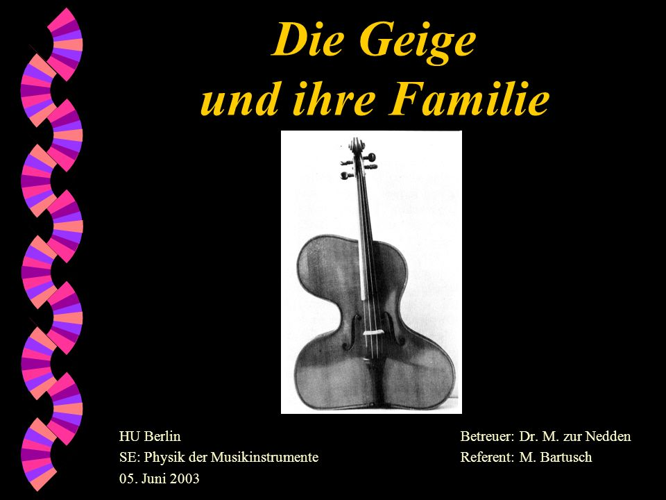 Die Geige und ihre Familie
