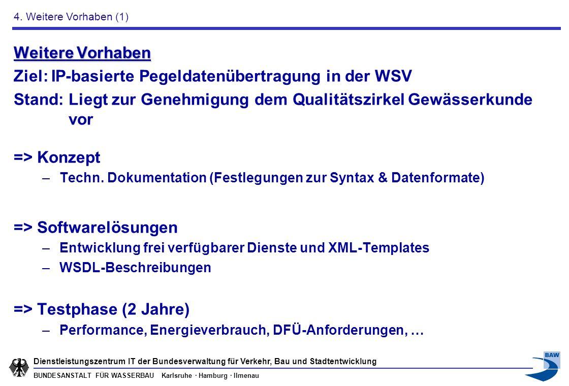 Ziel: IP-basierte Pegeldatenübertragung in der WSV