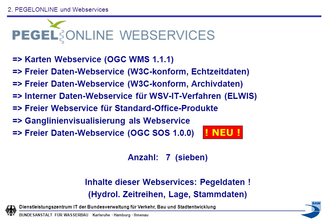 ! NEU ! => Karten Webservice (OGC WMS 1.1.1)