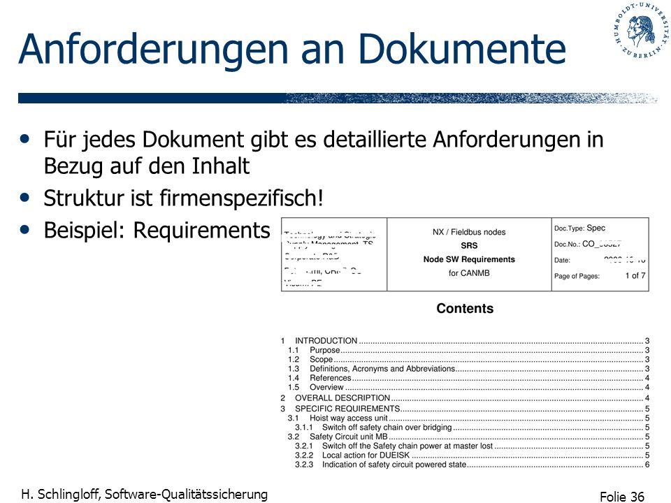 Anforderungen an Dokumente