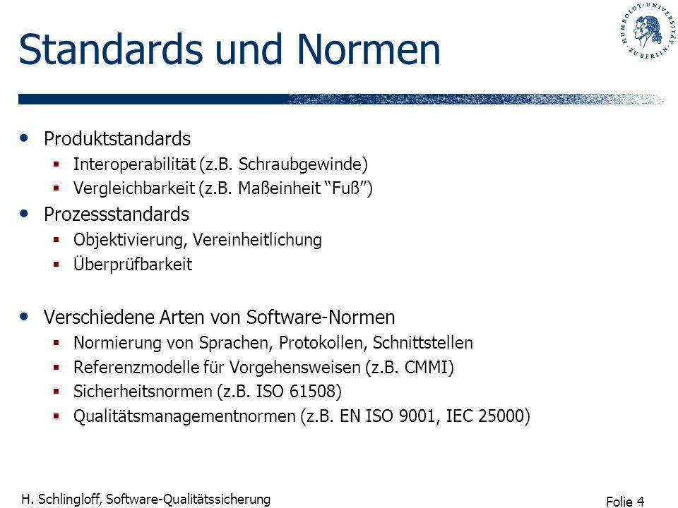 Standards und Normen Produktstandards Prozessstandards