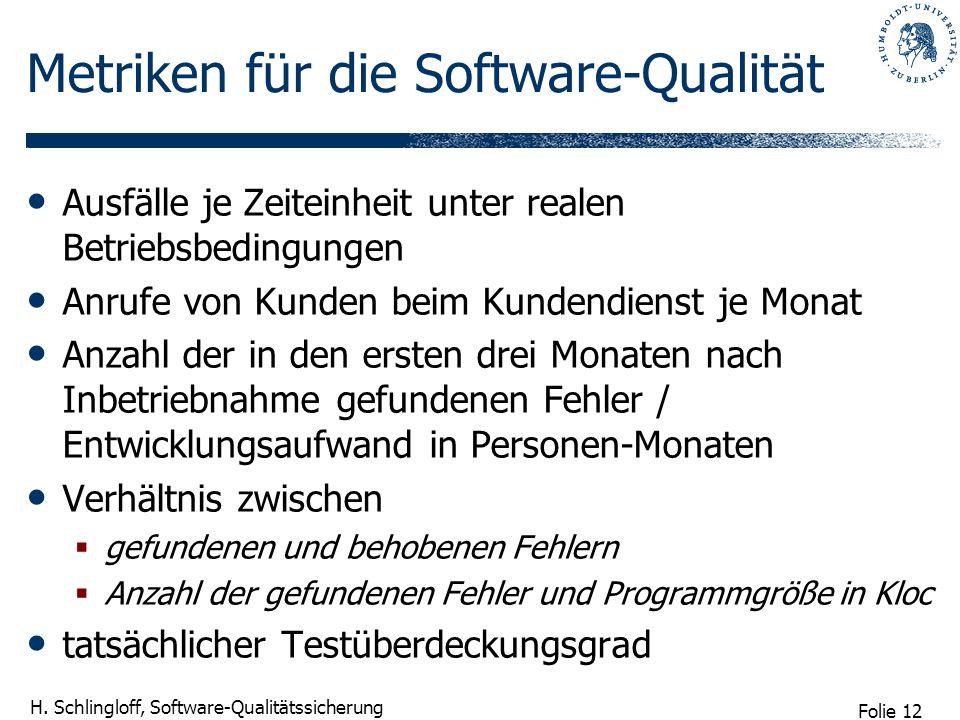 Metriken für die Software-Qualität