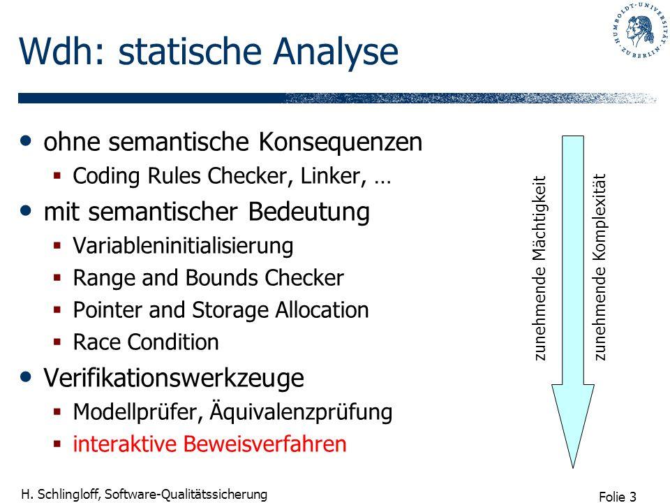 Wdh: statische Analyse