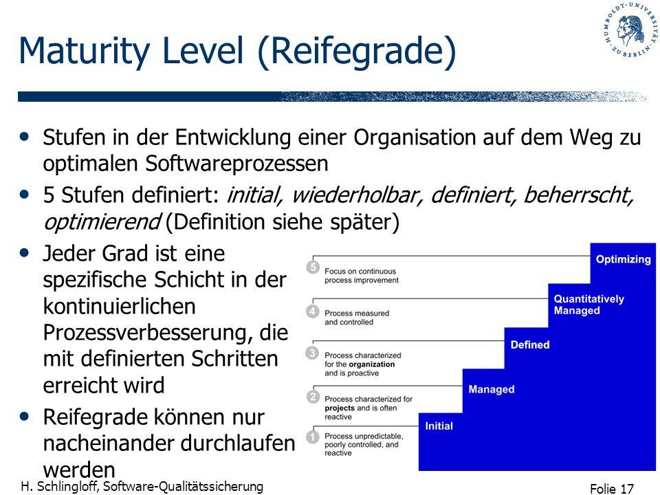 Maturity Level (Reifegrade)