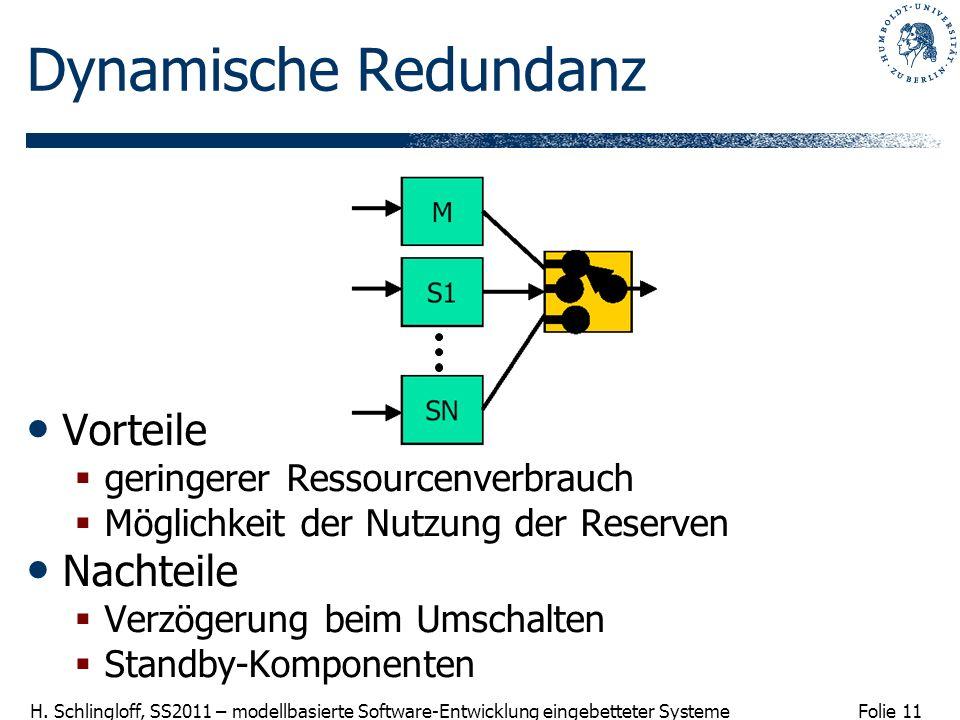 Dynamische Redundanz Vorteile Nachteile geringerer Ressourcenverbrauch