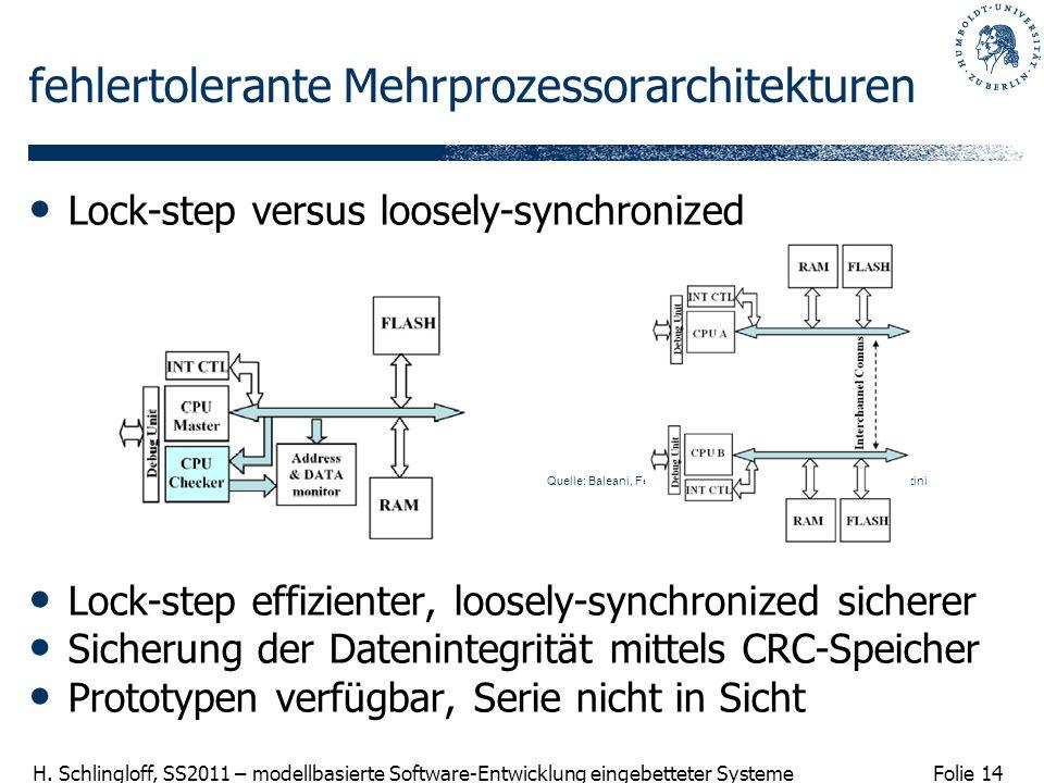 fehlertolerante Mehrprozessorarchitekturen