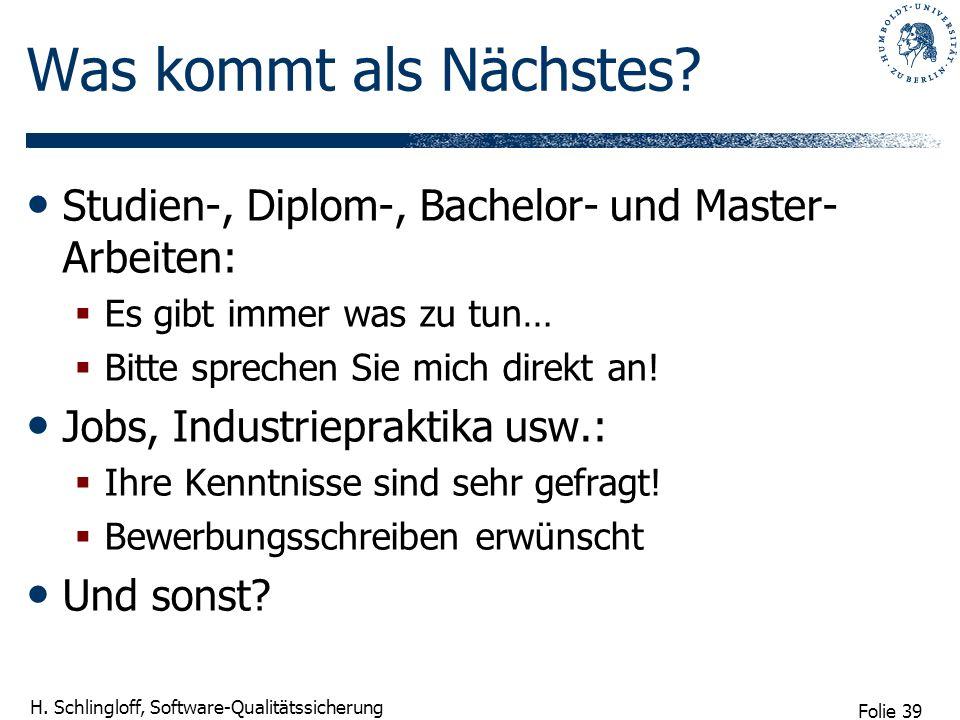 Was kommt als Nächstes Studien-, Diplom-, Bachelor- und Master-Arbeiten: Es gibt immer was zu tun…