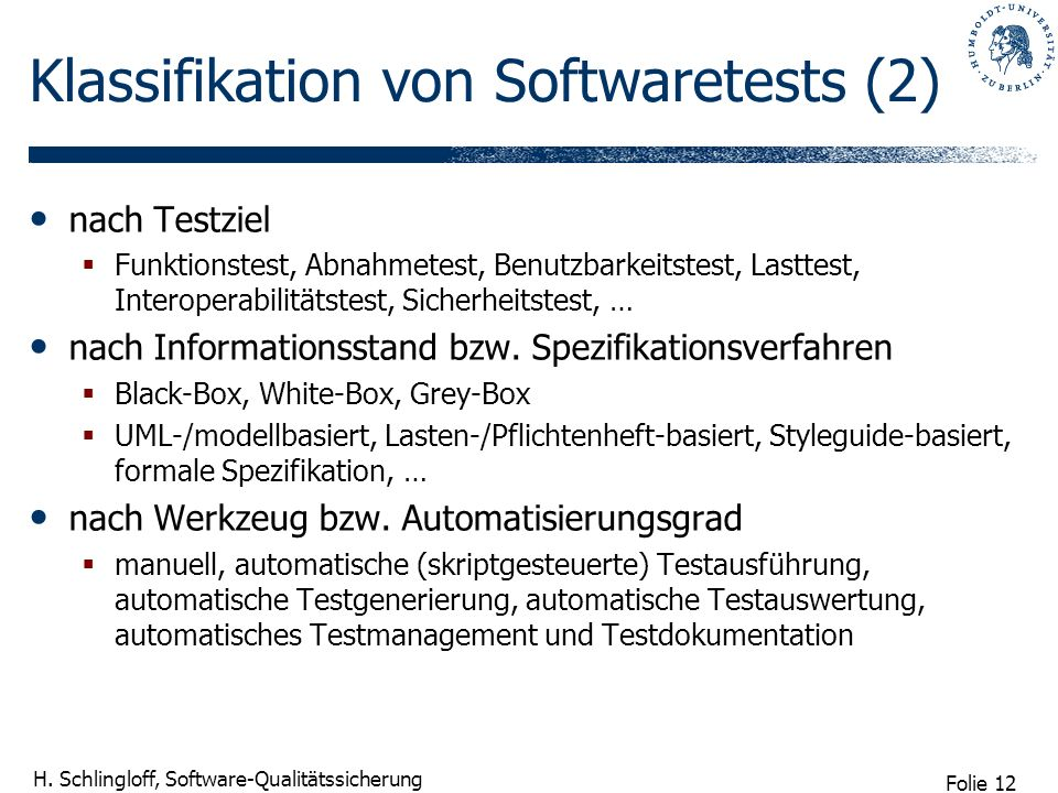 Klassifikation von Softwaretests (2)