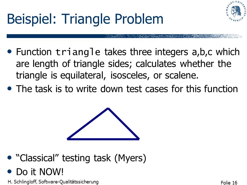 Beispiel: Triangle Problem