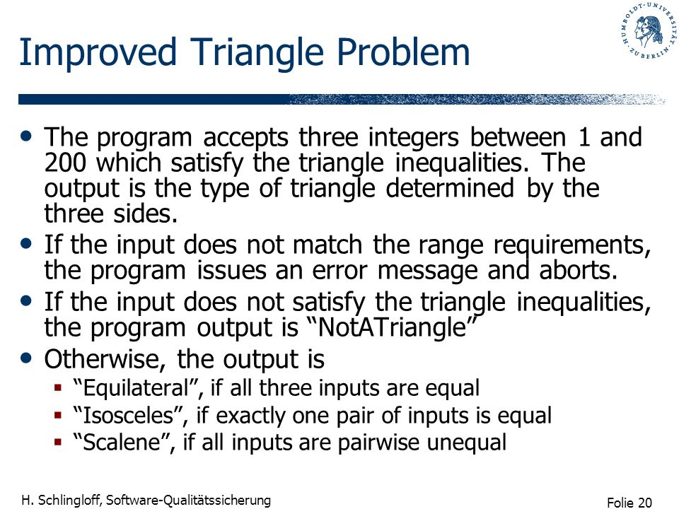 Improved Triangle Problem