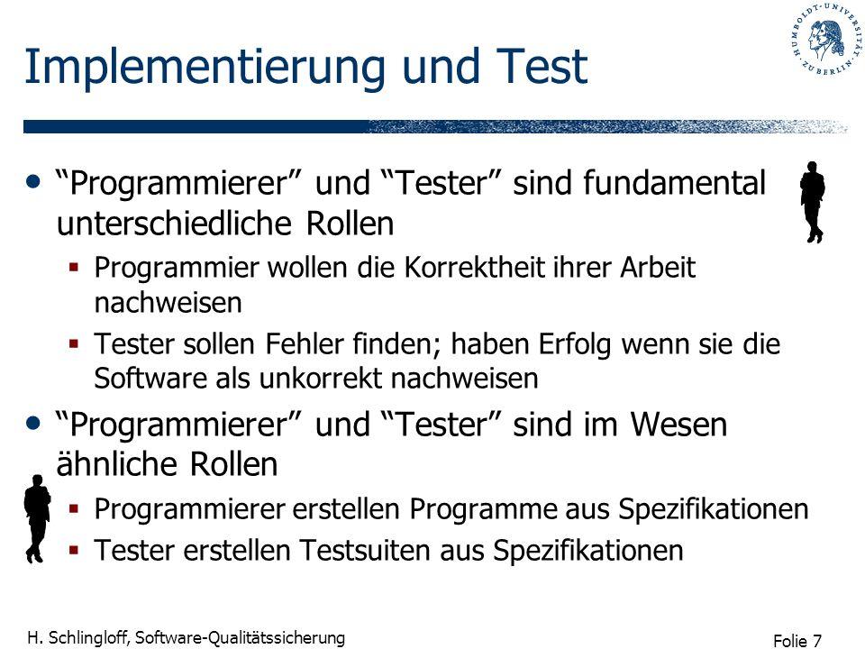 Implementierung und Test