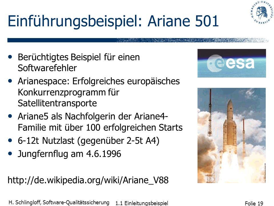 Einführungsbeispiel: Ariane 501