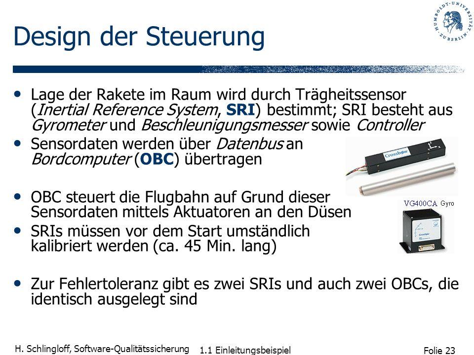 Design der Steuerung