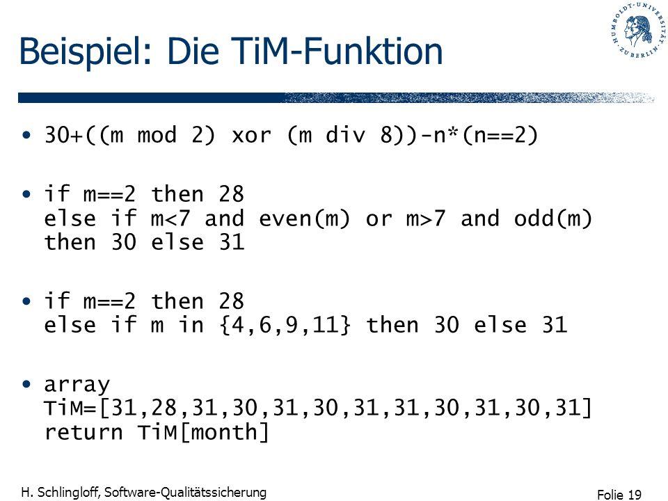 Beispiel: Die TiM-Funktion