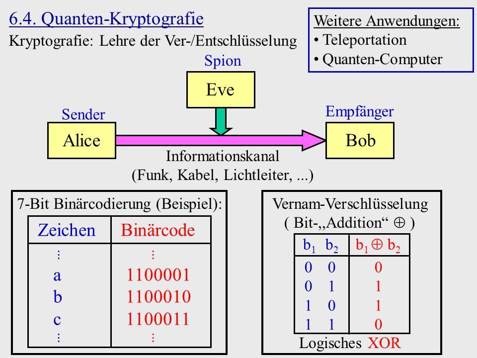 6.4. Quanten-Kryptografie