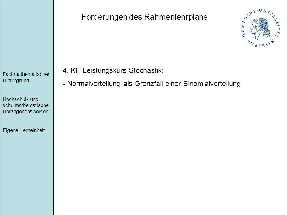 Forderungen des Rahmenlehrplans