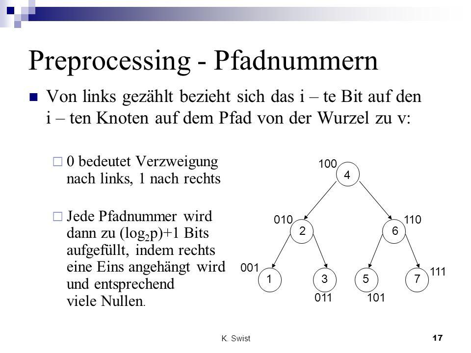 Preprocessing - Pfadnummern