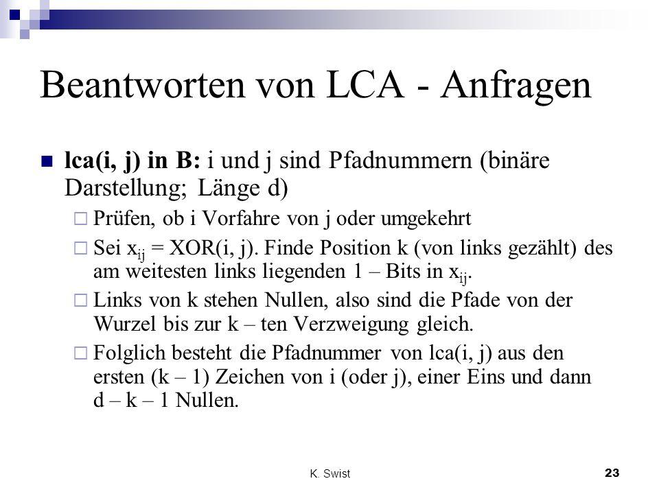 Beantworten von LCA - Anfragen