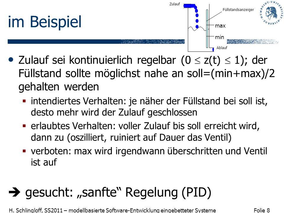 """im Beispiel  gesucht: """"sanfte Regelung (PID)"""