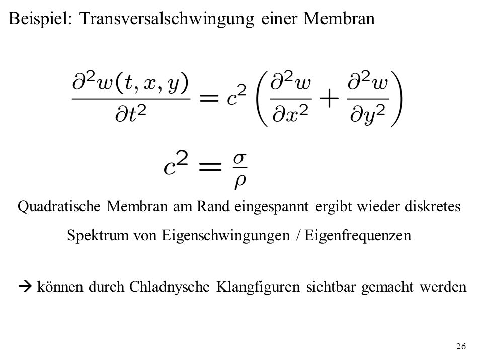Beispiel: Transversalschwingung einer Membran