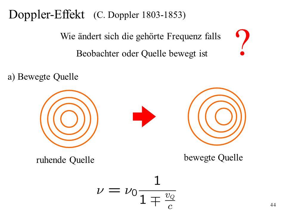Doppler-Effekt (C. Doppler 1803-1853)