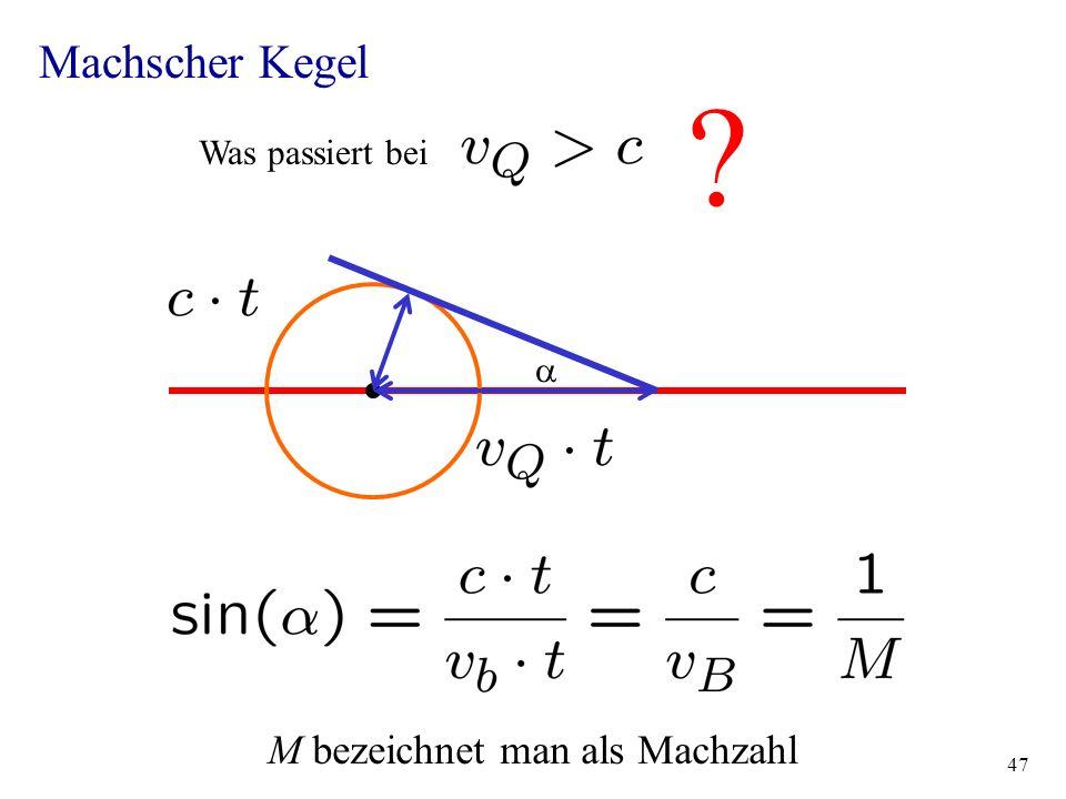 M bezeichnet man als Machzahl