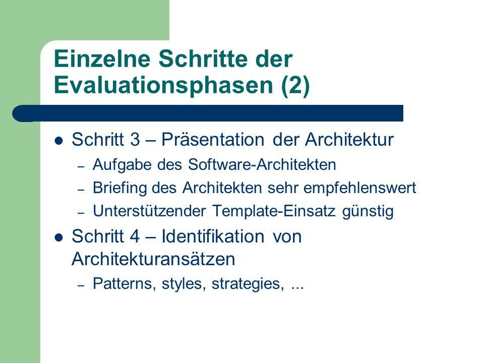 Einzelne Schritte der Evaluationsphasen (2)
