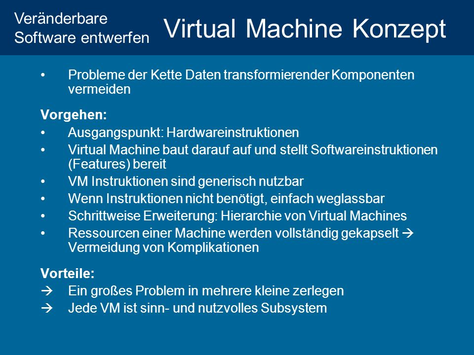 Virtual Machine Konzept
