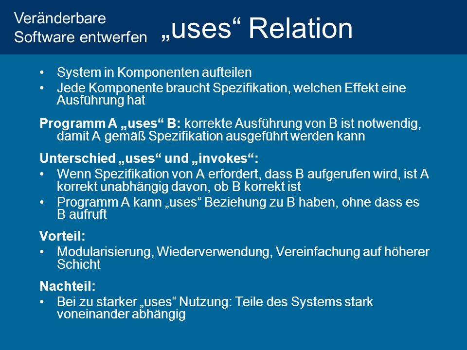 """uses Relation System in Komponenten aufteilen"